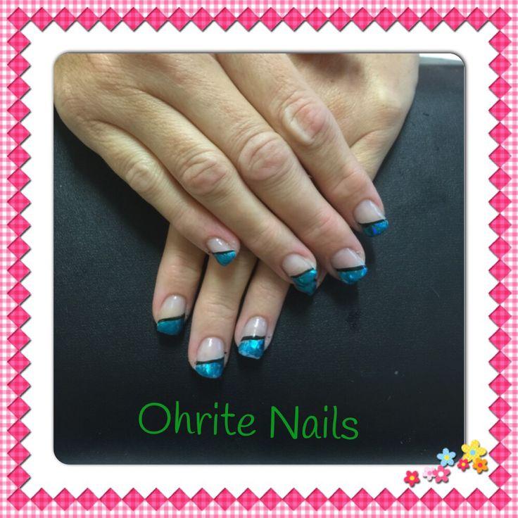 Blue foil with black