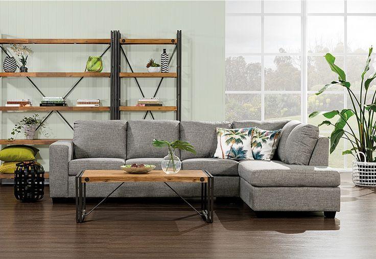 Bonza Fabric Corner Lounge Suite | Super Amart
