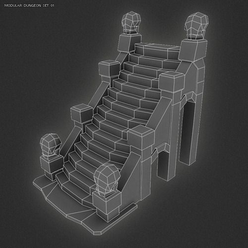 Stairs For Dungeon Set 01 I FINALLY got around to adding in...