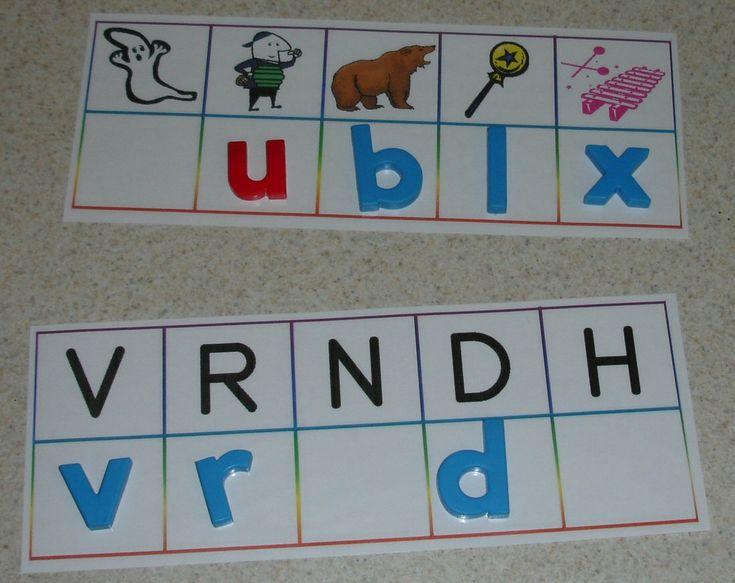 ABC centers: Center Ideas, Printable Alphabet, Alphabet Games, Alphabet Center, Literacy Center, Letters Activities, Letters Matching, Abc Center, Letters Sound