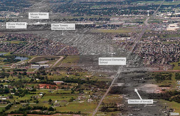 Oklahoma tornado mapped