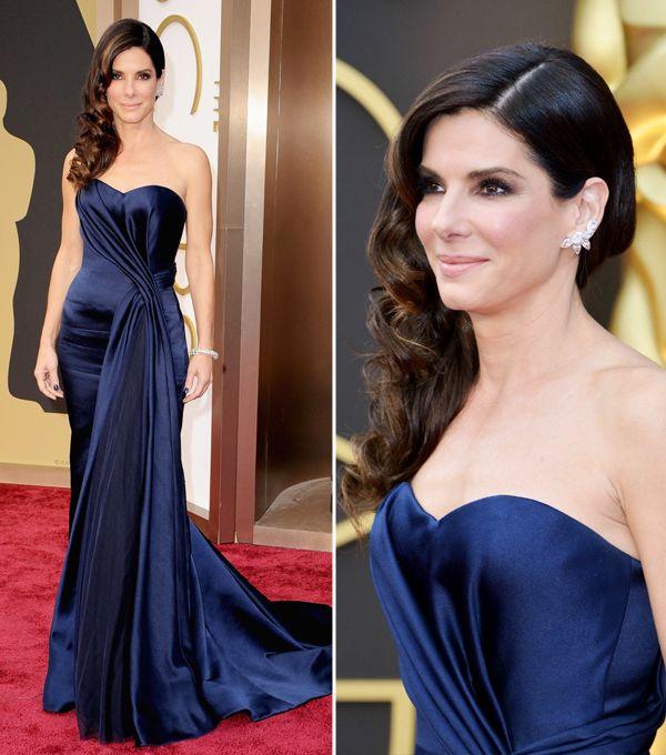 Vestido de festa como inspiração para mãe de noiva | Sandra Bullock veste Alexander McQueen