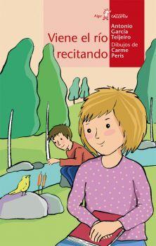 Viene el rio recitando / Antonio García Teijeiro. Los poemas de este libro discurren ante los ojos y por el oído del lector con la fluidez, sencillez y frescura con que lo hacen las aguas claras de un río. El ritmo incesante de la poesía te empapará de solidaridad y respeto a la naturaleza.