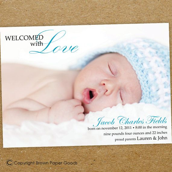 17 best ideas about boy birth announcements on pinterest