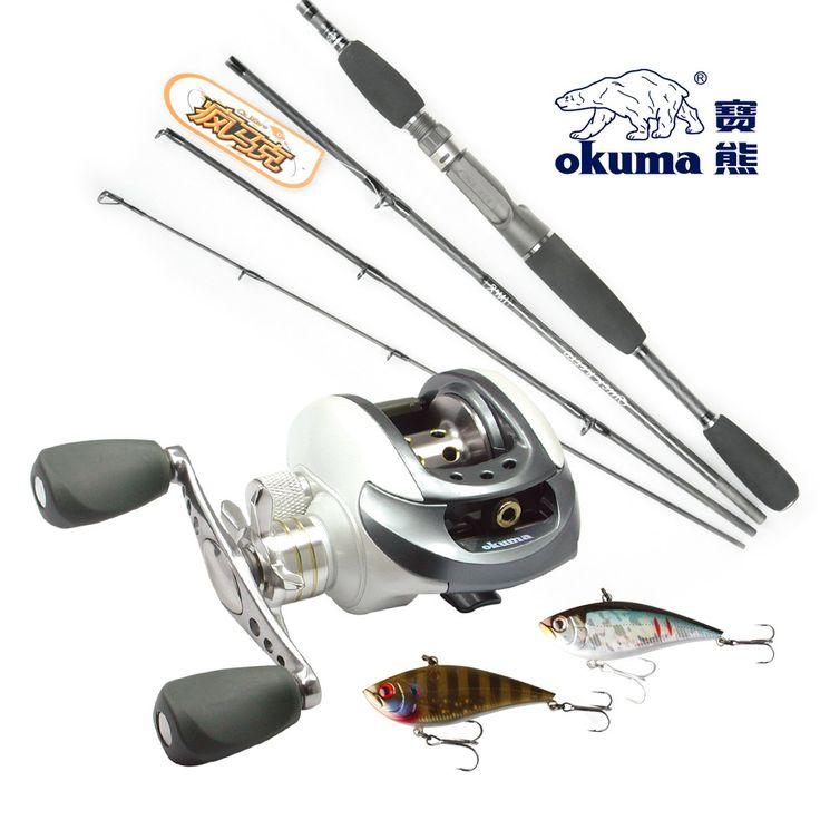 OKUMA 10 BEARINGS BAIT CASTING LURE ROD SET ROD CHEAP FISHING RODS AND REELS BAITCASTING ROD AND REEL