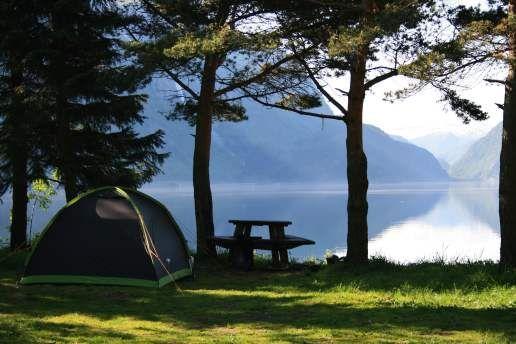 Odda Camping med telt