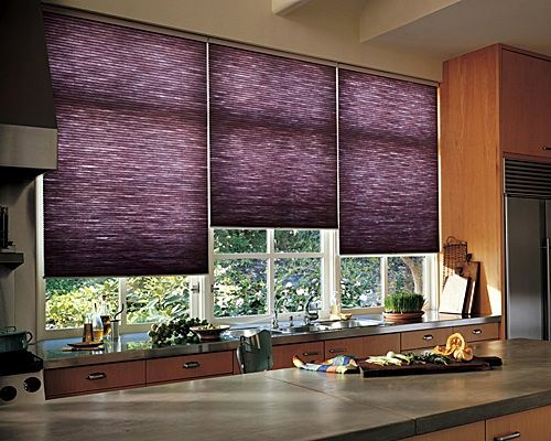 two purple kitchens - Kitchen Blinds Ideas