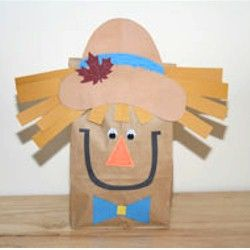 Scarecrow Paper Bag: Preschool children would love to make a cute scarecrow for fall.  This would be a fun activity after reading books about scarecrows like, The  Little Scarecrow Boy and the Lonely Scarecrow.  Children could use their creativity to make an unique scarecrow, which is very DAP.