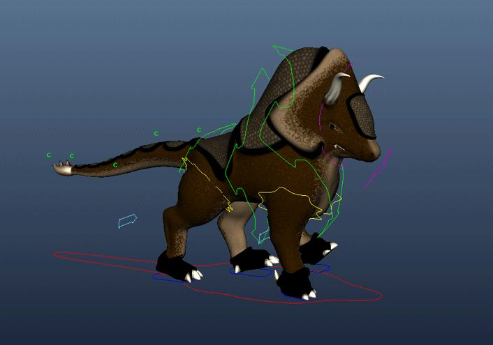 """Quadruped Walking Cycle """"Gurthang & the Seed"""" By Christian Moncada"""
