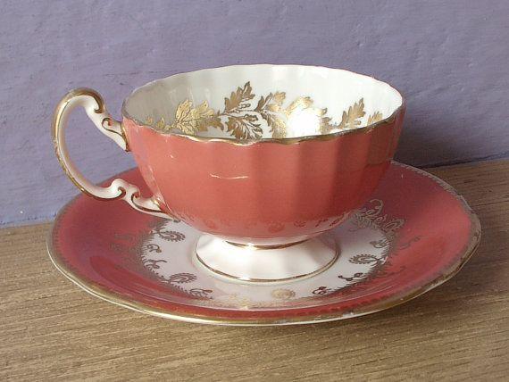 antique Aynsley bone china tea set vintage 1930's by ShoponSherman