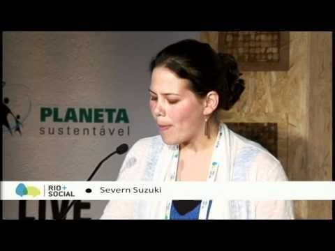 """Powerful! Severn Cullis-Suzuki, an environmental activist, delivered the 2012 United Nations Rio + Social """"6-Minute Speech Project.""""   In 1992, the then 12 year-old Suzuki, addressed the United Nations Member States at the UN Earth Summit and articulately shared her views about our plant and human rights. http://youtu.be/G7z5pWP7Yio"""