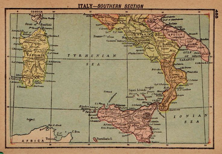 1902 Rare Italy Map of Southern Italy  MINIATURE Map Home Decor Travel Map Gallery Wall Art 6759 by plaindealing on Etsy