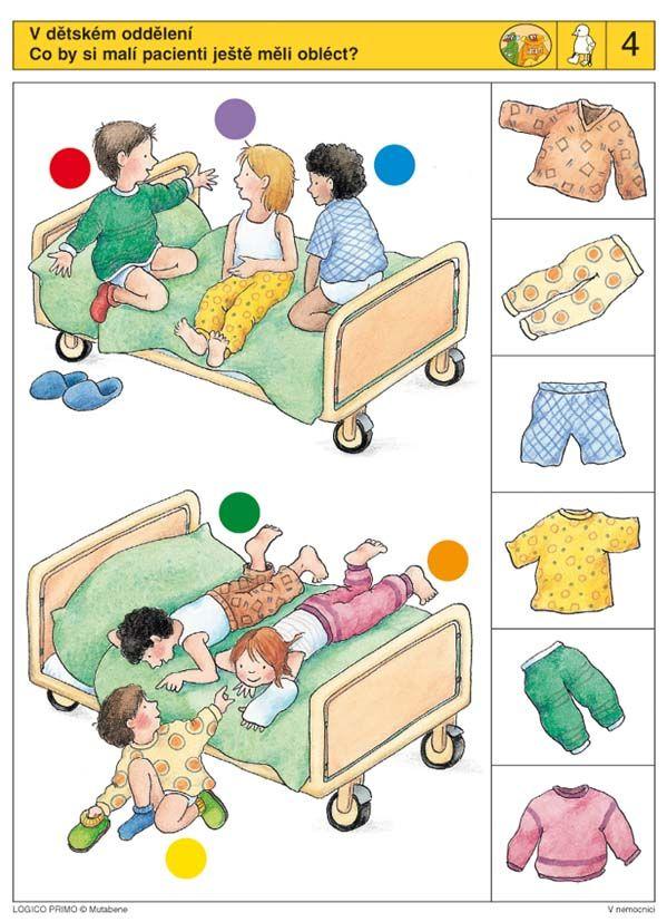 LOGICO PRIMO | Pro děti od 3 let | V nemocnici | Didaktické pomůcky a hračky - AMOSEK