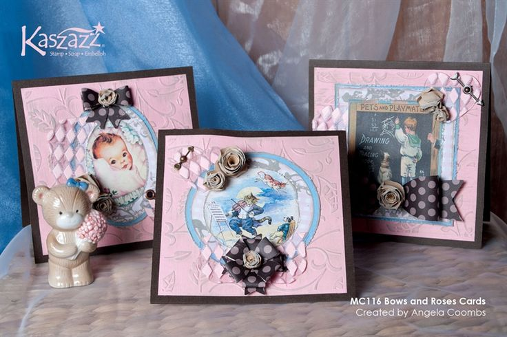 MC116 Bows and Roses Cards