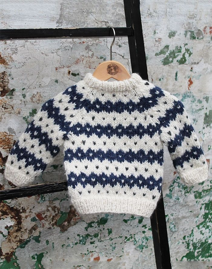 baby sweater alpaca uld strikkekit