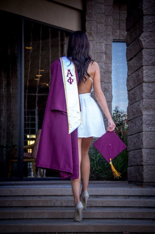 Graduating with your letters on. TSM.