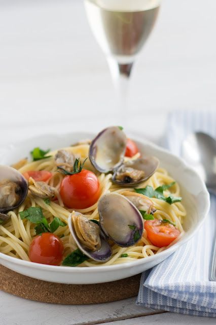 Chic, chic, chocolat...: Spaghetti alle vongole (palourdes)