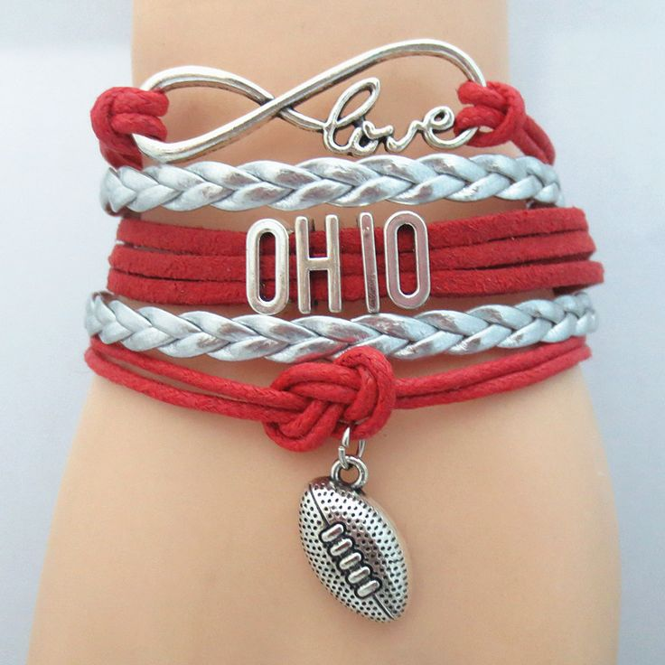 Infinity Love Ohio Football - Show off your teams colors! Cutest Love Ohio Football Bracelet on the Planet! Don't miss our Special Sales Event going on now. Many teams available.