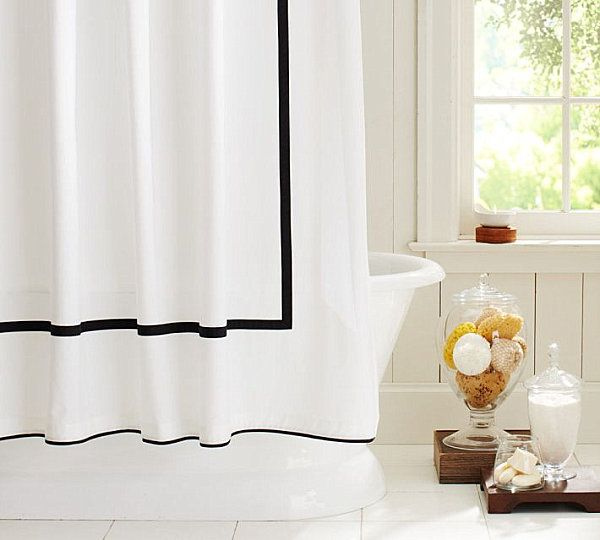 Best 25+ Modern Shower Curtains Ideas On Pinterest | Modern Tracks And  Rails, Curtain Rod Extender And Natural Minimalist Style Bathrooms