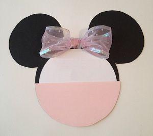 Hermosas invitaciones de cumpleaños con forma de Minnie