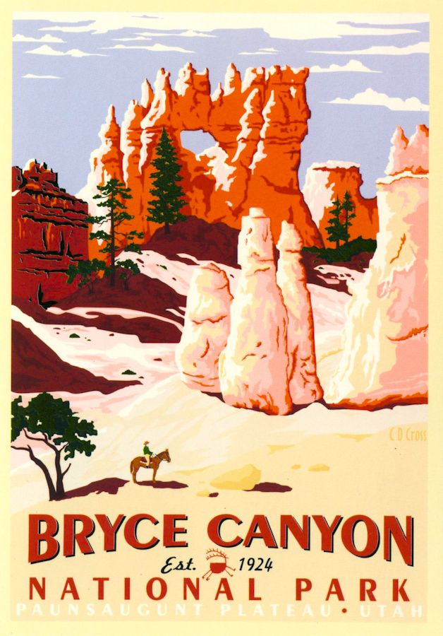 Bryce Canyon National Park WPA Poster amp Wilderness