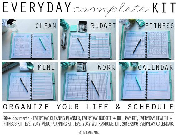 Makeover your entire life  from cleaning to budget to scheduling  EVERYDAY  COMPLETE Kit. 243 best images about clean mama    clean mama printables on