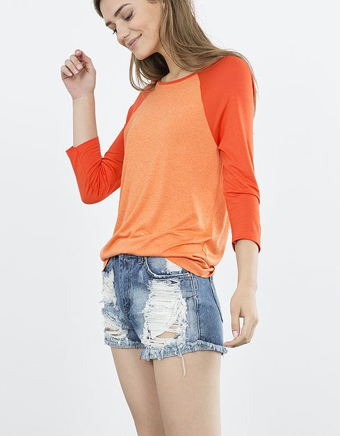 Camiseta bicolor | SHOP ONLINE BLANCO.COM