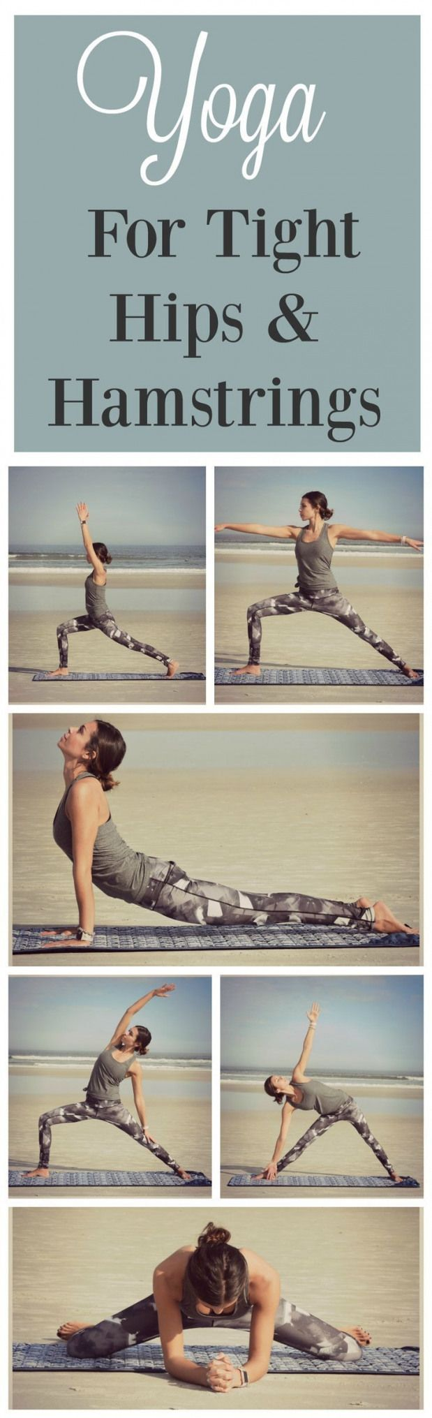 Repin to practice these poses later! This Yoga Sequence helps to stretch out tig…