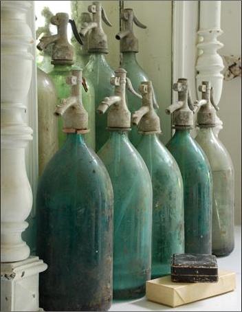 old seltzer bottles