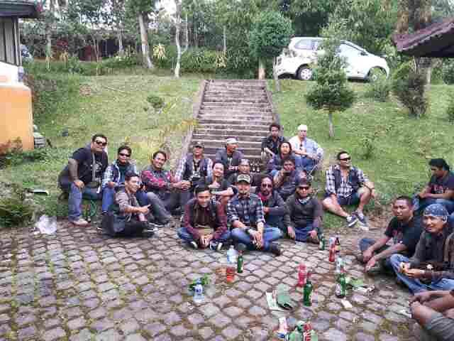 With HMT Bali Ride to bedugul on Radical MC Bali anniversary