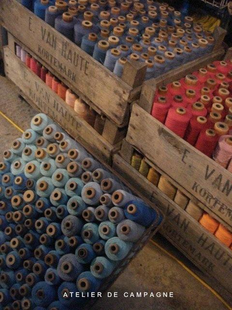 Vintage Belgian Cotton Bobbins