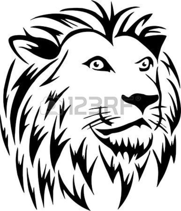 Pin by debbie albanese on logo lion drawing lion art lion - Tete de lion dessin facile ...