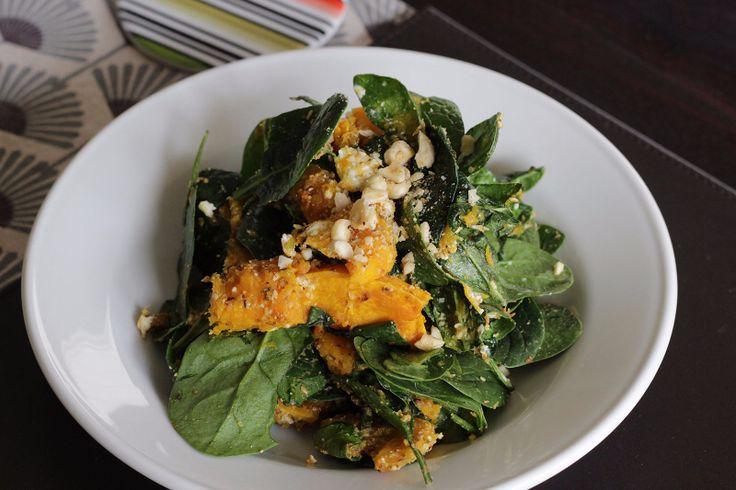 Roasted Pumpkin & Goat's Cheese Dukkah Salad