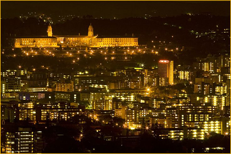 Central Pretoria and the Union Buildings at night