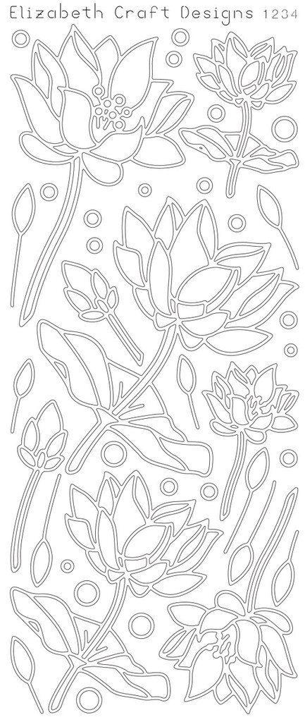 Elizabeth Craft diseños despega la etiqueta engomada - Lotus 2515G - oro