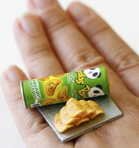 Kawaii Cute Miniature Food Ring Panda by fingerfooddelight, $12.00