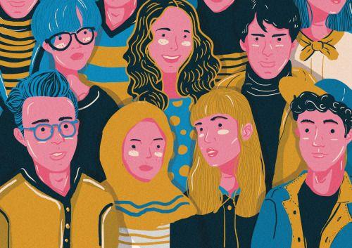 People Ilustration by Marsa Iman 'Adlina