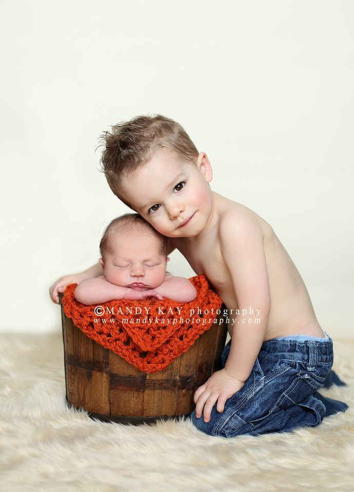 Sibling shot with newborn