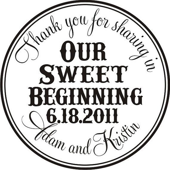 Thank you for sharing in our sweet beginning by stampoutonline, $27.00