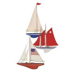 "Mary Lake-Thompson Ltd flour sack kitchen towels ""Three Sailboats.""   Perfect for this holiday weekend."