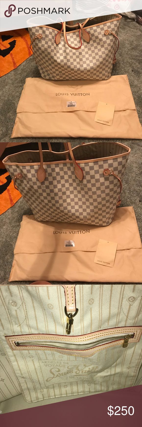 Louis Vuitton neverfull pm white damier Price reflects authenticity comes with everything shown no trades Louis Vuitton Bags Totes