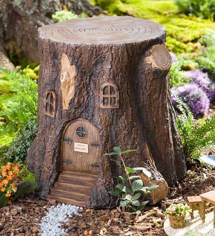 Дерево Пень Fairy двери