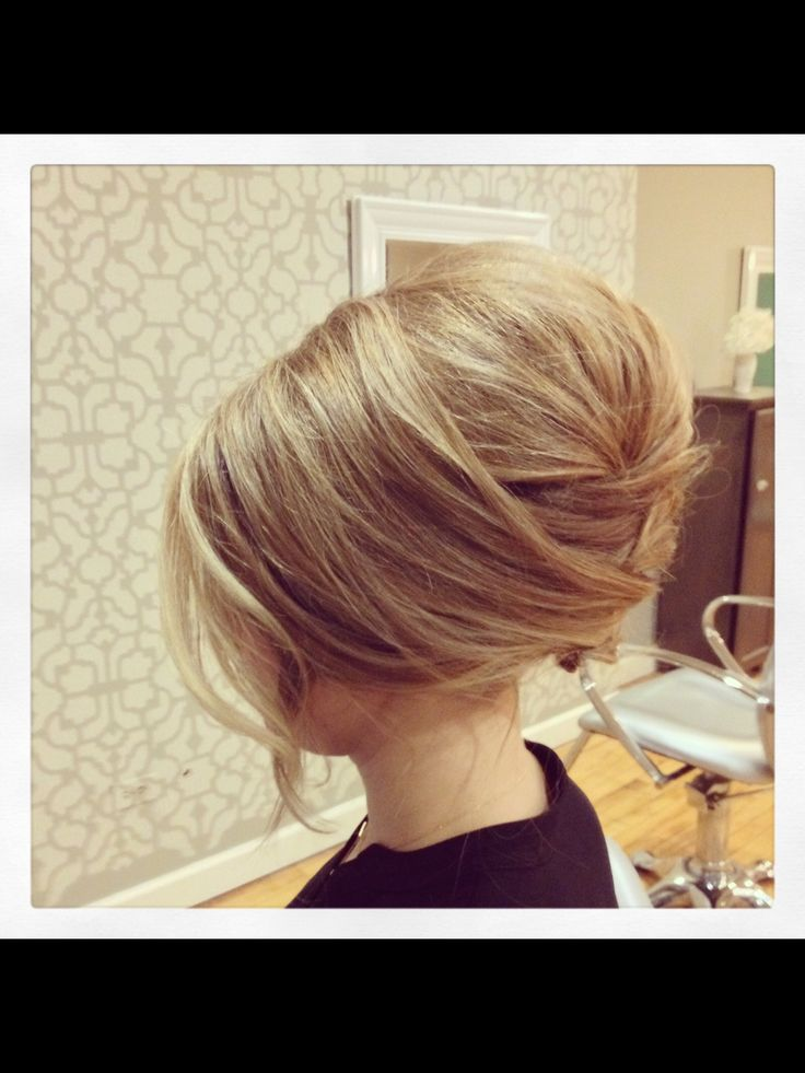 Modern day beehive wedding hair