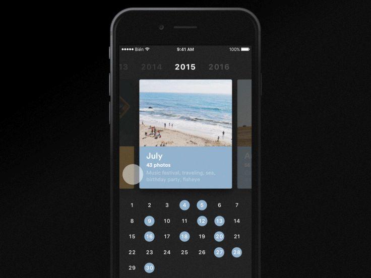 Photo Calendar - UI Movement