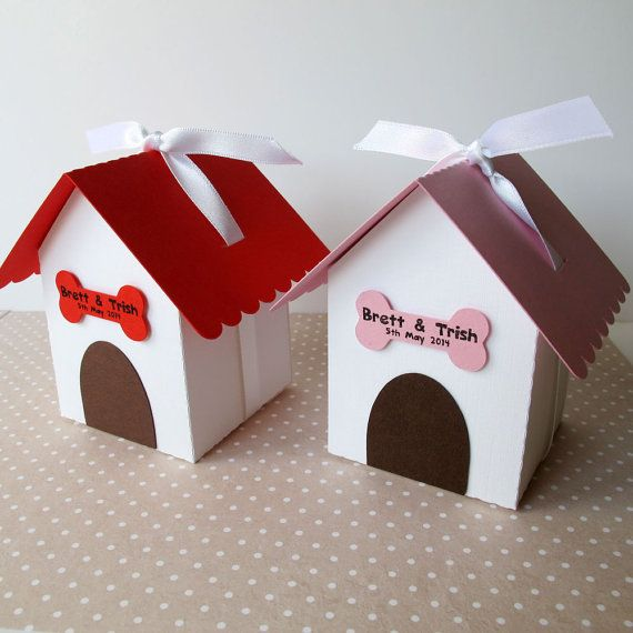 Dog House Wedding Favour/Party Box x 10 by WonkyOwl on Etsy £11.50 & 12 best Paper Dog Treat Gift Box images on Pinterest | Boxes ... Aboutintivar.Com