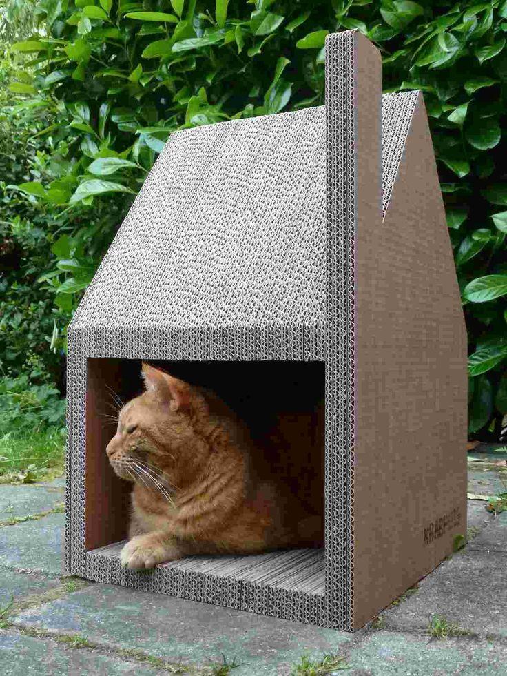 Vous en avez marre que votre se fait le griffes sur vos beaux meubles?La Krabhuis est une maison pour chat design qui va résoudre vos problèmes.