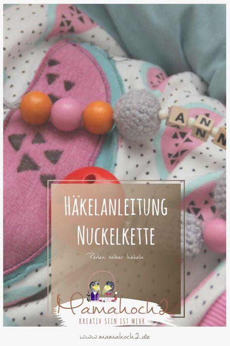 Häkelanleitung Nuckelkette Häkeln Amigurumi Häkeln Pinterest