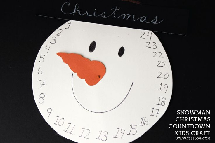 This super simple and adorable DIY Snowman Christmas Countdown makes a great craft for kids.
