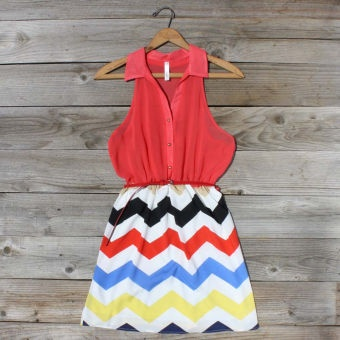 Broken Arrow Chevron Dress