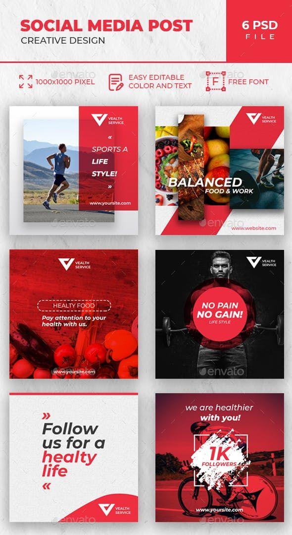 Instagram Social Media Pack Social Media Design Graphics Social Media Design Inspiration Social Media Pack